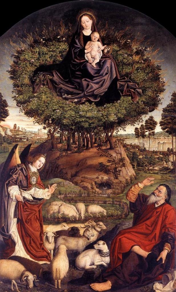 Nicholas Froment The Burning Bush 1476 Wood 410 x 305 cm Cathedrale Saint Sauveur in Aix-en-Provence