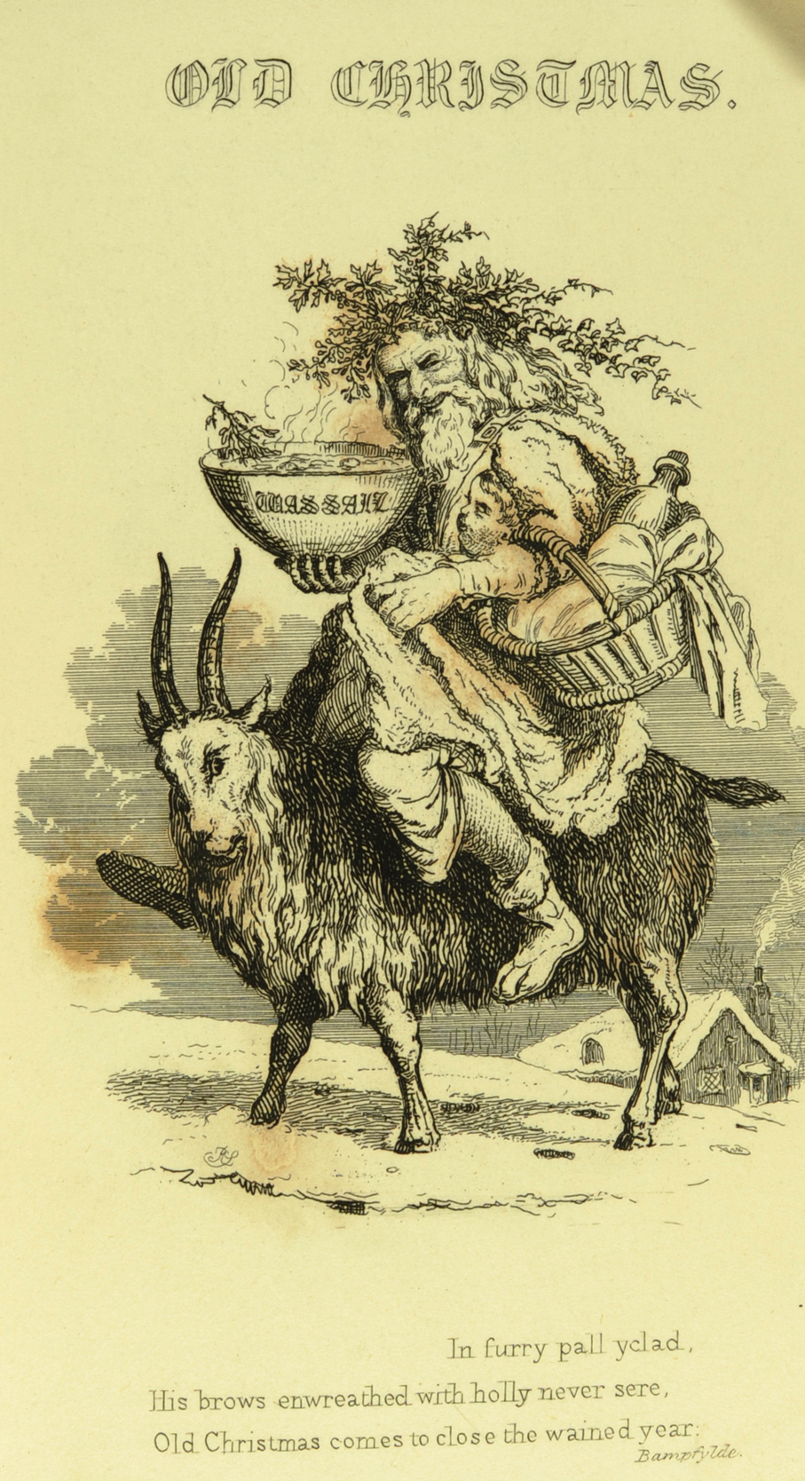 07_Y yule goat The Book of Christmas 1836