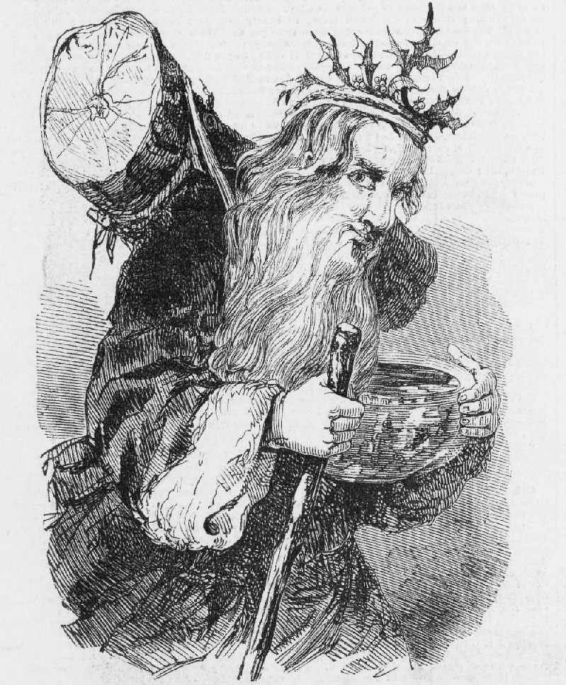 09_Y Old Father Christmas_with_the_Yule_Log,_Illustrated_London_News,_23_Dec_1848