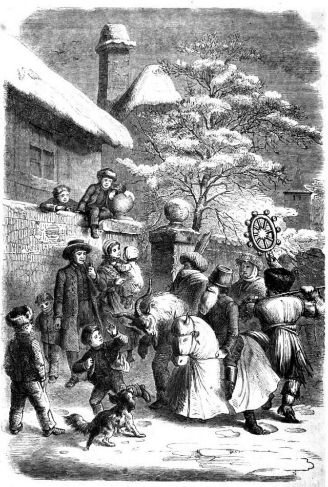 1863 Otto von Reinsberg-Düringsfeld Das_festliche_Jahr_img444_Weihnachtsmasken