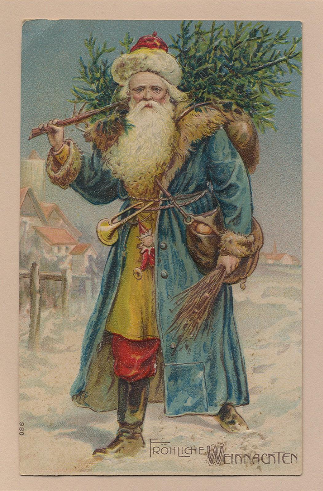 father christmas blue