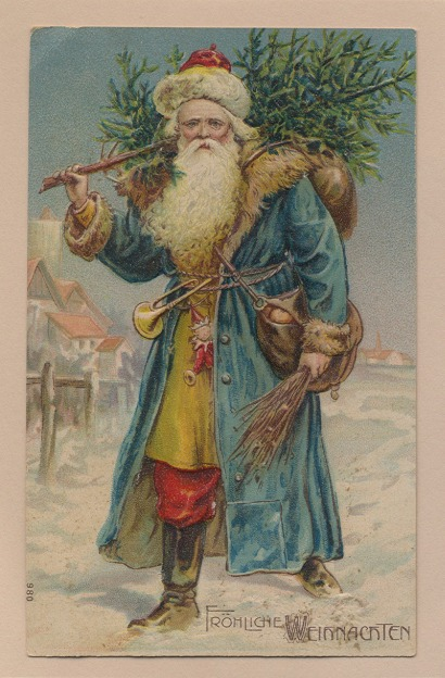 father christmas blue