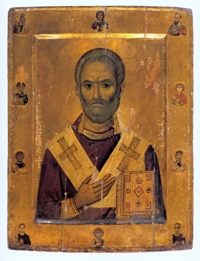 Icon St Nickolas from monastery of St Catherine in Sinai 10th cent