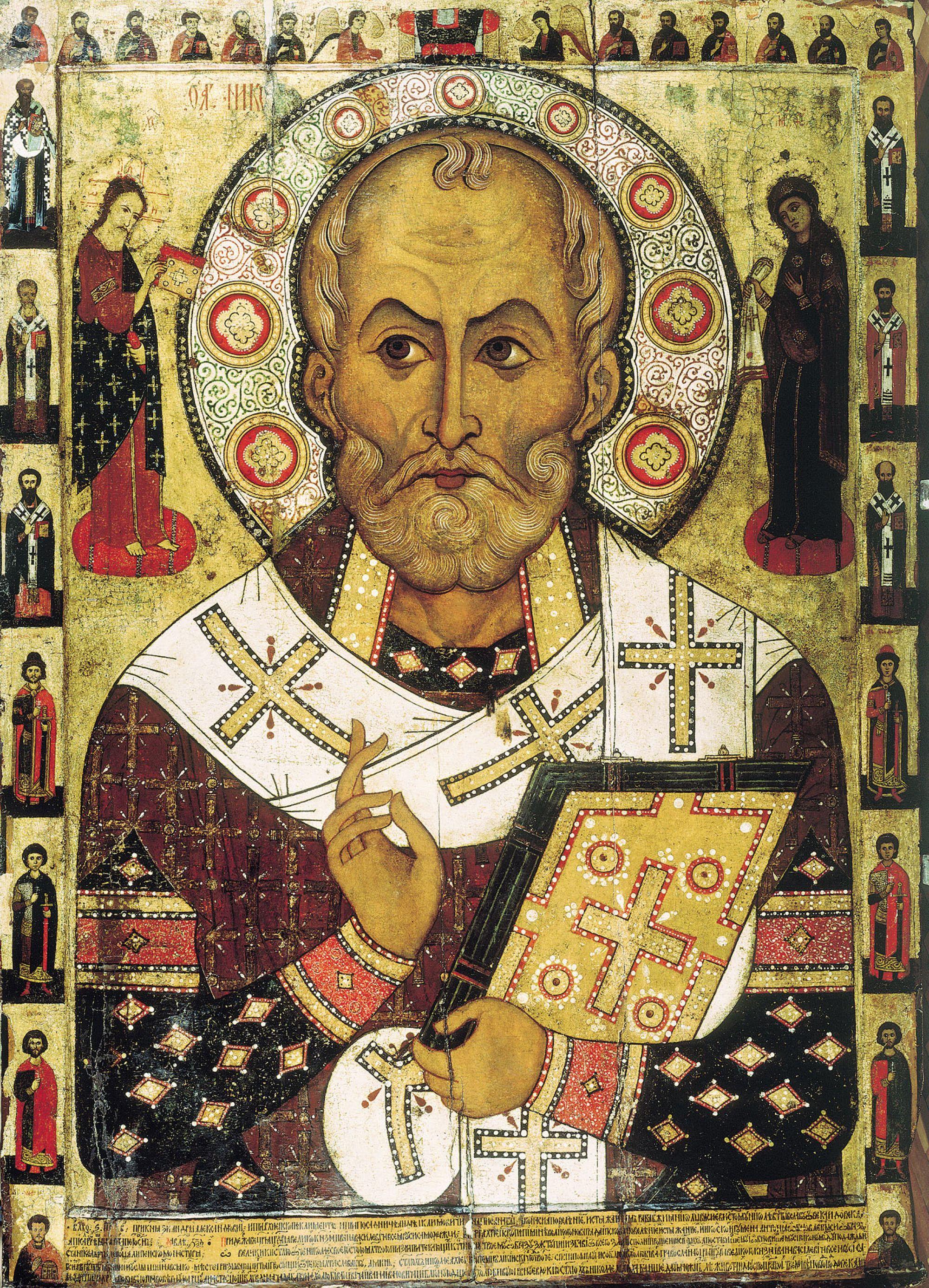 Icon veliky-novgorod-russian-st-nicholas-painted-on-wooden