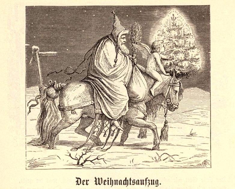 Knecht_Ruprecht_und_das_Christkind 1800s