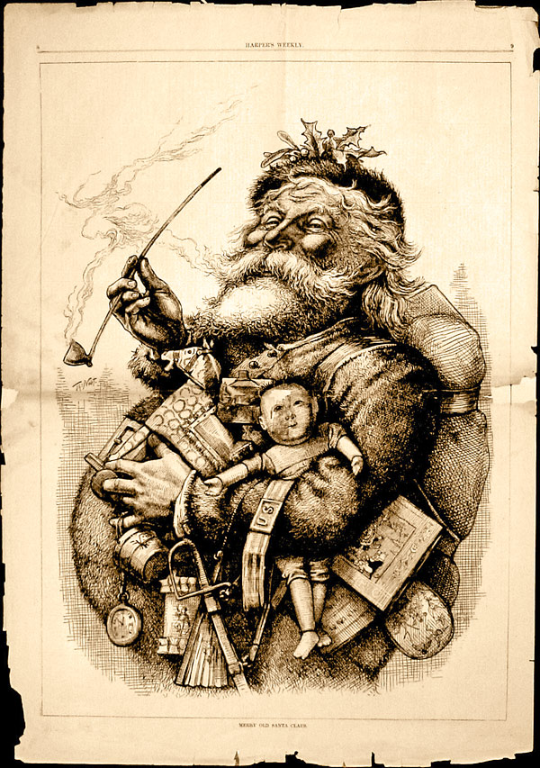 Nast Santa Claus or St Nick by Thomas Nast for Harper s Weekly in 1881