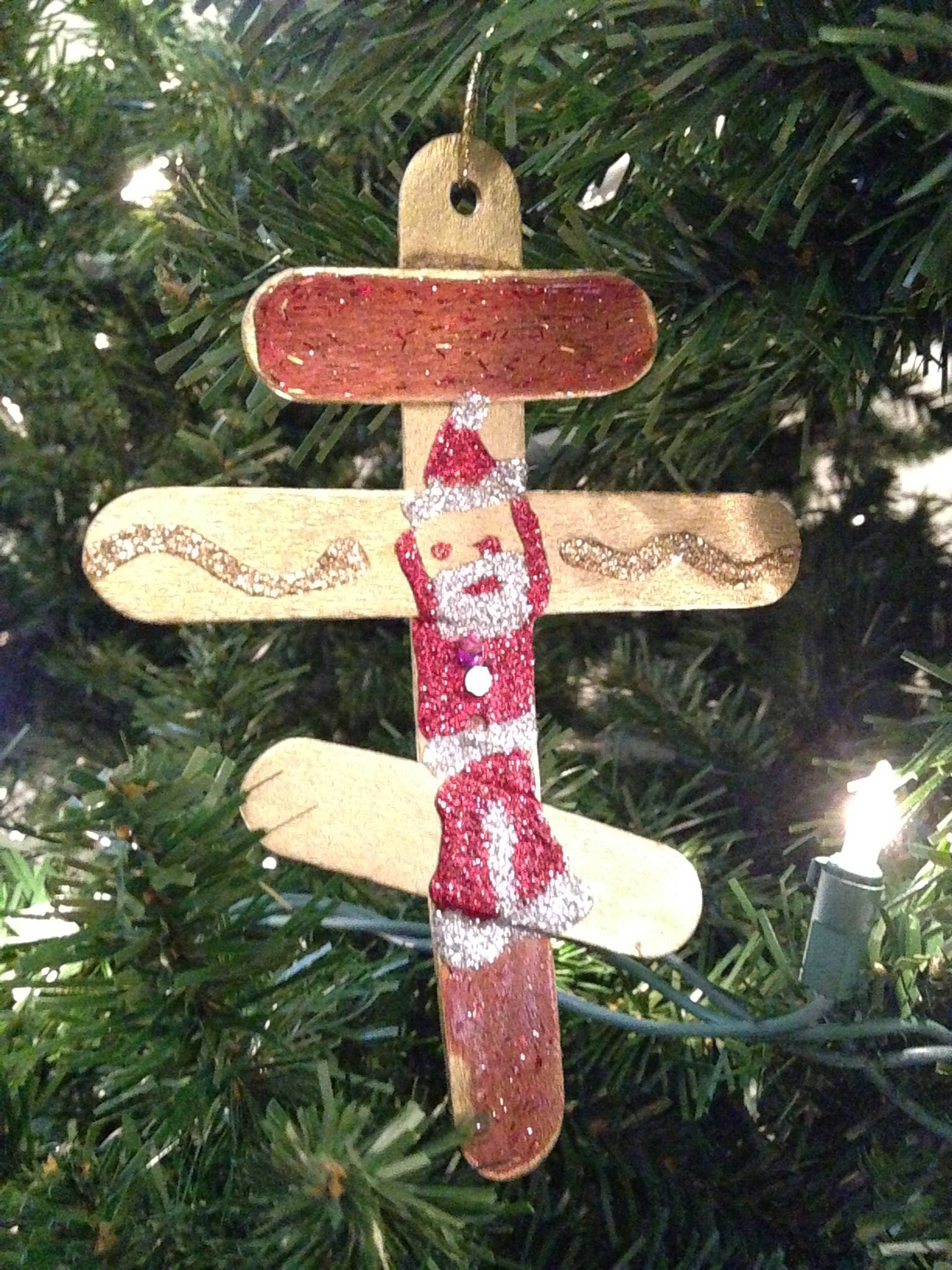 Orthodox cross adorned with Santa 2015 Child in York Pa