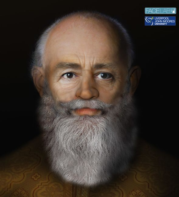 Reconstruction of St Nicholas by Professor Caroline Wilkinson