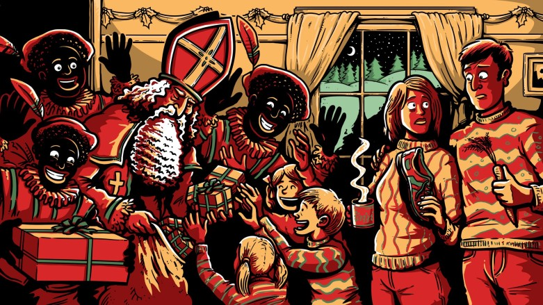 Sinterklaas and Zwarte Piet or Black Pete